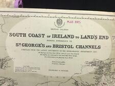 ADMIRALTY SEA CHART.  SOUTH COAST of IRELAND. No.1123. British Islands. 1888.