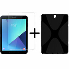 2in1 Set For Samsung Galaxy Tab S3 SM-T820 T825 Cover Case+Protective Glass