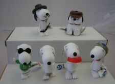 Schleich Peanuts 6 figuras Snoopy continuamente m. plato flying ace Joe Cool Olaf Spike
