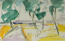 JOSE TRUJILLO Impressionist Watercolor Painting Modernist COLORIST ABSTRACT ART
