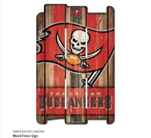 Tampa Bay Buccaneers Defense Wooden Sign 43 CM NFL Football Fence Sign