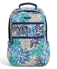 NWT Vera Bradley Campus Tech quilted cotton Backpack in SANTIAGO print $108