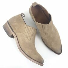 NEW Frye Women Size 8B Billy Shootie Suede Slip On Ankle Boots Beige $258
