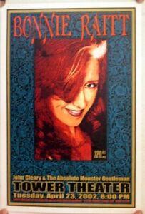 Bonnie Raitt John Cleary & The Absolute Monster Gentleman Tower Theater Poster