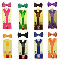 Suspender and Bow Tie Set Tuxedo Wedding for Baby Toddler Kids Boy Girl Children