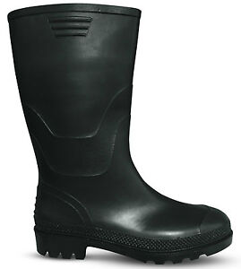 Stridy Womens Black Gumboots - New with Tags
