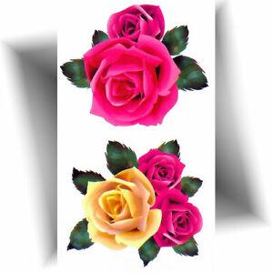 ►MINI TATOUAGE TEMPORAIRE ROSE - Petit tattoo éphémère fleur -  décalcomanie ◄