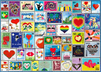 NEW BRAND - 1000 Piece Jigsaw Puzzle - Love Stamps - FREE SHIPPING - SEALED
