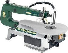 "Record Power Scroll Saw SS16V ""16 Variable Speed Table tilts (missing blade hold"
