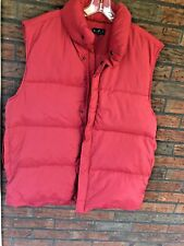 Goose Down Puffer Vest XL Red Sleeveless Jacket Feather Insulation NDX Nederland