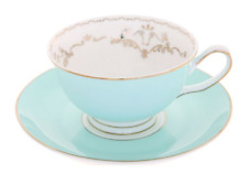 Bombay Duck Miss Darcy Tea Cup and Saucer Bird Mint
