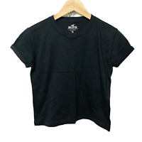 Hollister Girls Black Must Have Short Length T-shirt Size XS New RRP £15