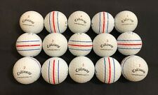 New listing 15 Callaway Chrome Soft X TripleTrack golf balls 5A No scuffs. With player marks
