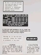 SUZUKI GT500 WARNING DECAL KIT