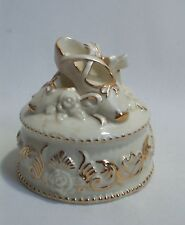 Music Box Wedding Gift Cake Ballerina Shoes 24K Trim Plays Bring Out The Clowns