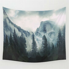 Foggy Mountain Pattern Hanging Tapestry Home Wall Art Decal Bedspread 150x130cm