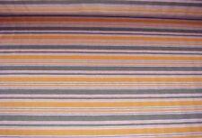 Baumwolle Jersey Stoff orange grau gestreift Meterware #0117