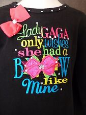 MONAG Shirt Toddler Size 2 'Lady Gaga Only Wishes She Had a Bow Like Mine'
