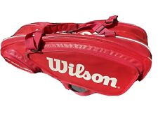 Wilson Tour 9Pack Backpack Tennis Racket Bag Thermo Guard Red