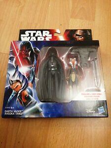 Star Wars The Force Awakens Figures Twin Pack. Darth Vader & Ahsoka Tano MINT
