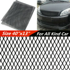 1*Durable High Quality Aluminium Black Car Racing Grille Mesh Net Sheet 100x33cm