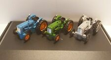 Fordson Tractor 3 Piece Set Diecast Model 1:76 Scale Gauge 00 Oxford NEW