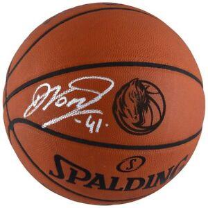 DIRK NOWITZKI Autographed Dallas Mavericks Laser Engraved Basketball FANATICS