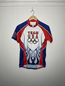 Mens EUC  Cycling USA Triathlon Olympic Team Cycling Jacket size M