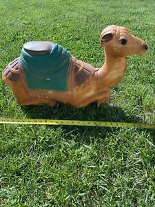 RARE VINTAGE GENERAL FOAM BLOW MOLD CAMEL CHRISTMAS NATIVITY (Cracked At Hoof)