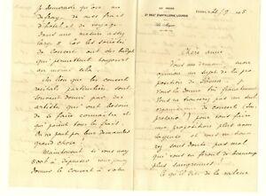 Georges Martin WITKOWSKI intéressante lettre économie spectacle autographe Lyon