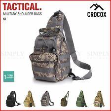 Crocox Tactical Shoulder Bag Sling Messenger Military Chest Pack Fanny Backpack