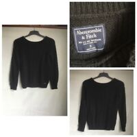 Abercrombie&Fitch Womens Black Acrylic Round Neck Jumper S(B516)