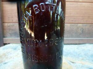 Vintage Large Old Embossed Beer Bottle Mt. Shasta Bottling Works Muggler Bros.