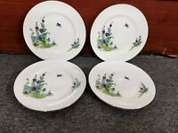 "Crown Sterling Covent Garden Set of 4 Salad Plates 8 1/4"" Fine Bone China"