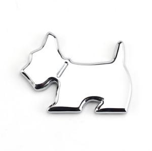 3D Metal Chrome Dog Puppy Car Fender Door Rear Trunk Emblem Badge Sticker Decal