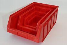 48 Profi-Sichtlagerboxen Größe 2-5 rot Sichtlagerkasten Stapelbox 1a-Qualität