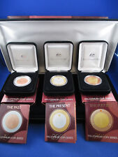 1999 - 2000 - 2001 MILLENNIUM COIN SERIES BOXED SET. THE PAST, PRESENT,  FUTURE