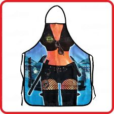 APRON-ATTITUDE FUNNY-SEXY POLICE COP GIRL LADY-KITCHEN-COOKING-PARTY-COSTUME-BBQ