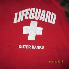 Life Gaurd Hoodie Heavy Weight Sz S Red Good Condition Outer Banks