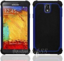 for samsung galaxy note III 3 triple 3 layer hybrid soft hard case black blue