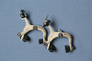 MODOLO Team Brake Calipers Set White Vintage 1980s Made in Italy