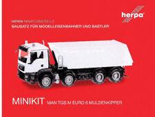 HERPA MiniKit 1:87 MAN TGS M EURO 6 Muldenkipper, wei�Ÿ Bausatz 013024 NEU/OVP