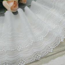 1 Yard Embroidery Trim Cotton Lace Ribbon Wedding Fabric Clothing Diy Sewing