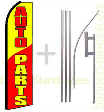 Swooper Feather Flutter Banner Sign Flag Kit- Auto Parts