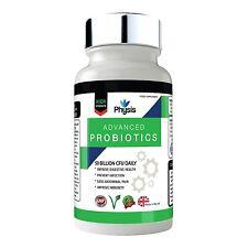 Physis Advanced Probiotics 50 Billion Viable Bacterial CFU TEN Strains Daily 30c