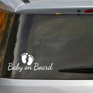 Baby On Board Funny Car Window Bumper Sticker Vinyl Decal Kid Child Children