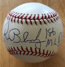 YANKEES RON BLOMBERG 1st ML DH 4/6/73 Inscription Signed OML Baseball With Proof