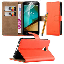 Wallet Flip Book Stand View Case Cover for Various Google Mobile PHONES Orange Google Pixel XL