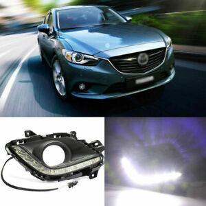 2pcs Brand Auto LED Daytime Running Lights DRL For Mazda 6