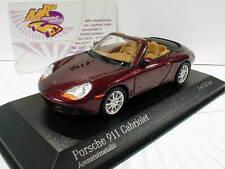 """Minichamps 400061092 # Porsche 911 (996) Cabrio Baujahr 1998 in """" braun """" 1:43"""